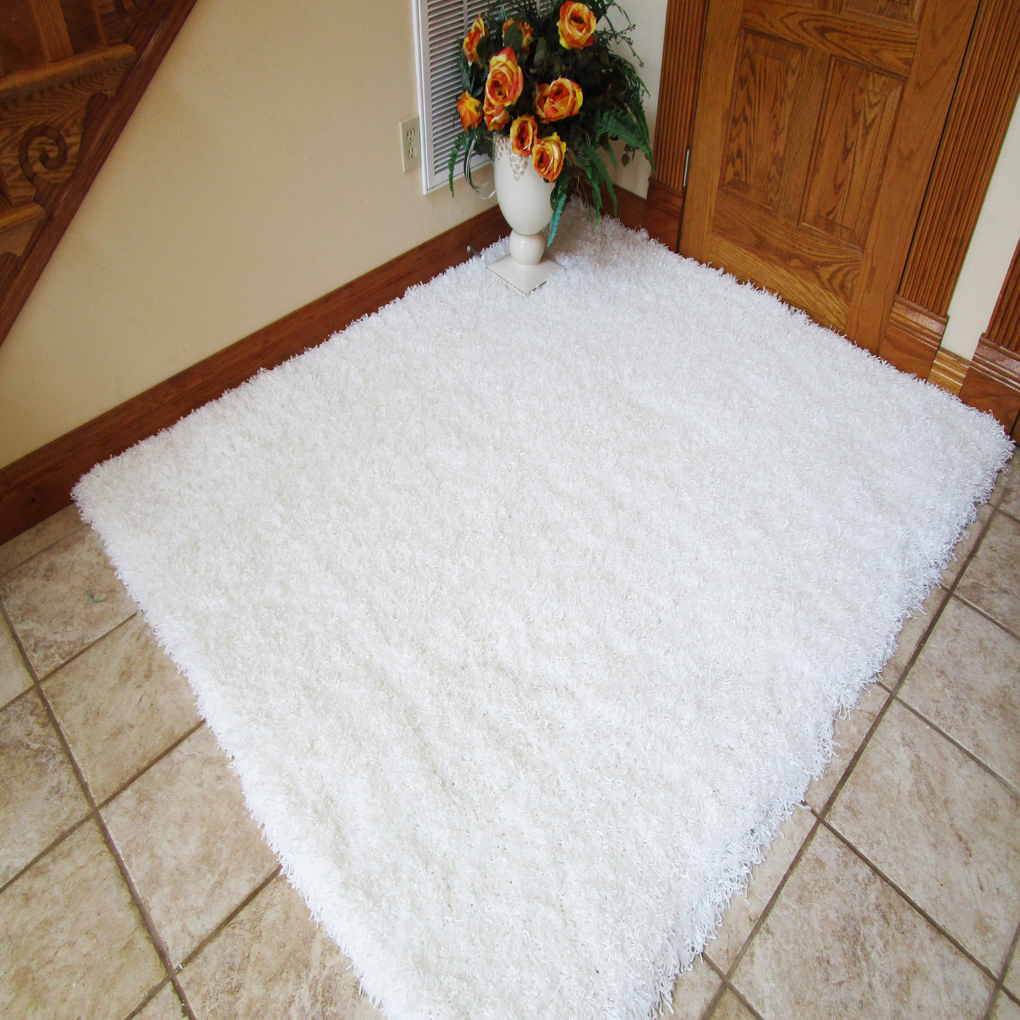 Snow White Shag Rug