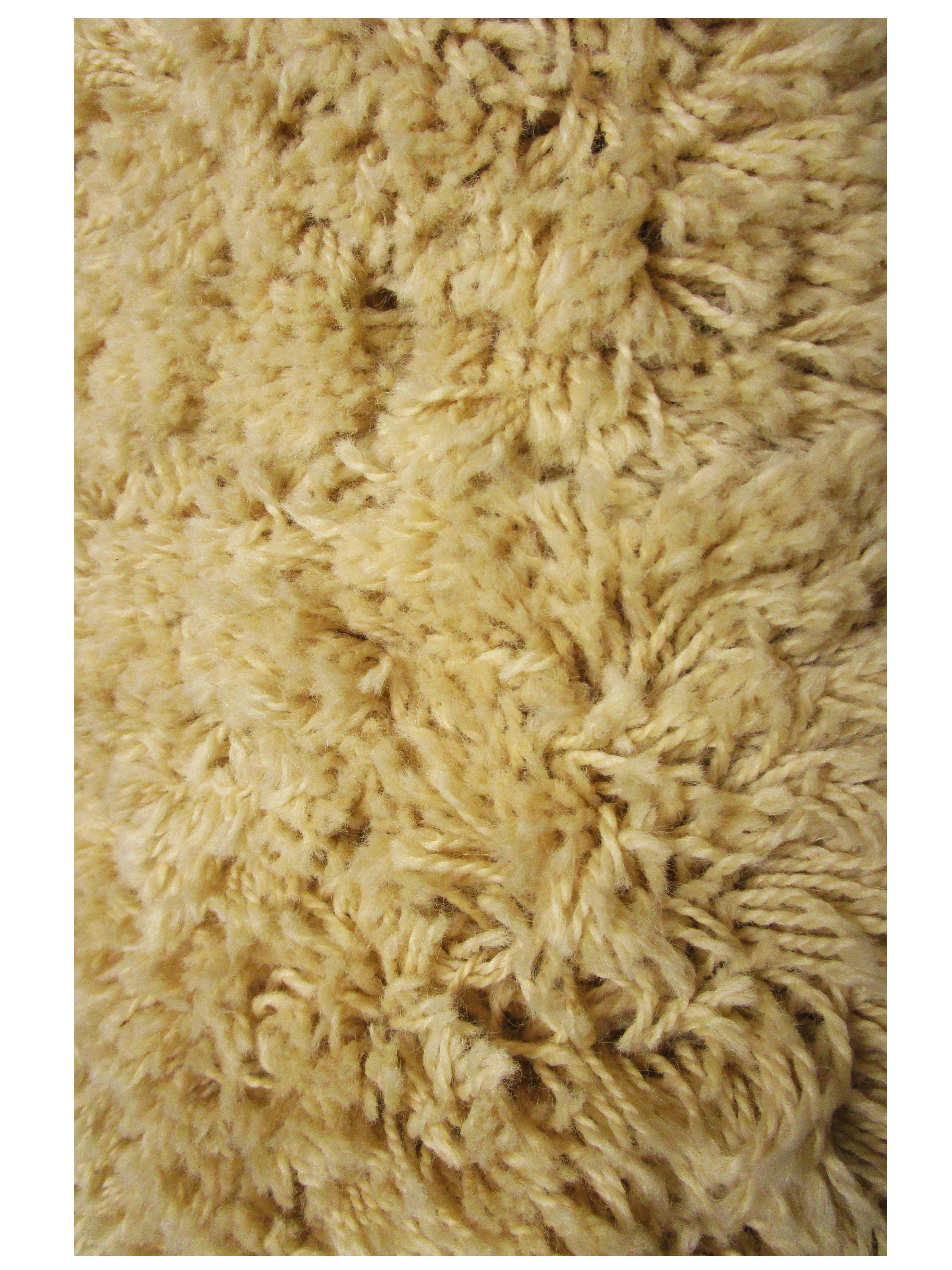Straw Wool Shag Rug