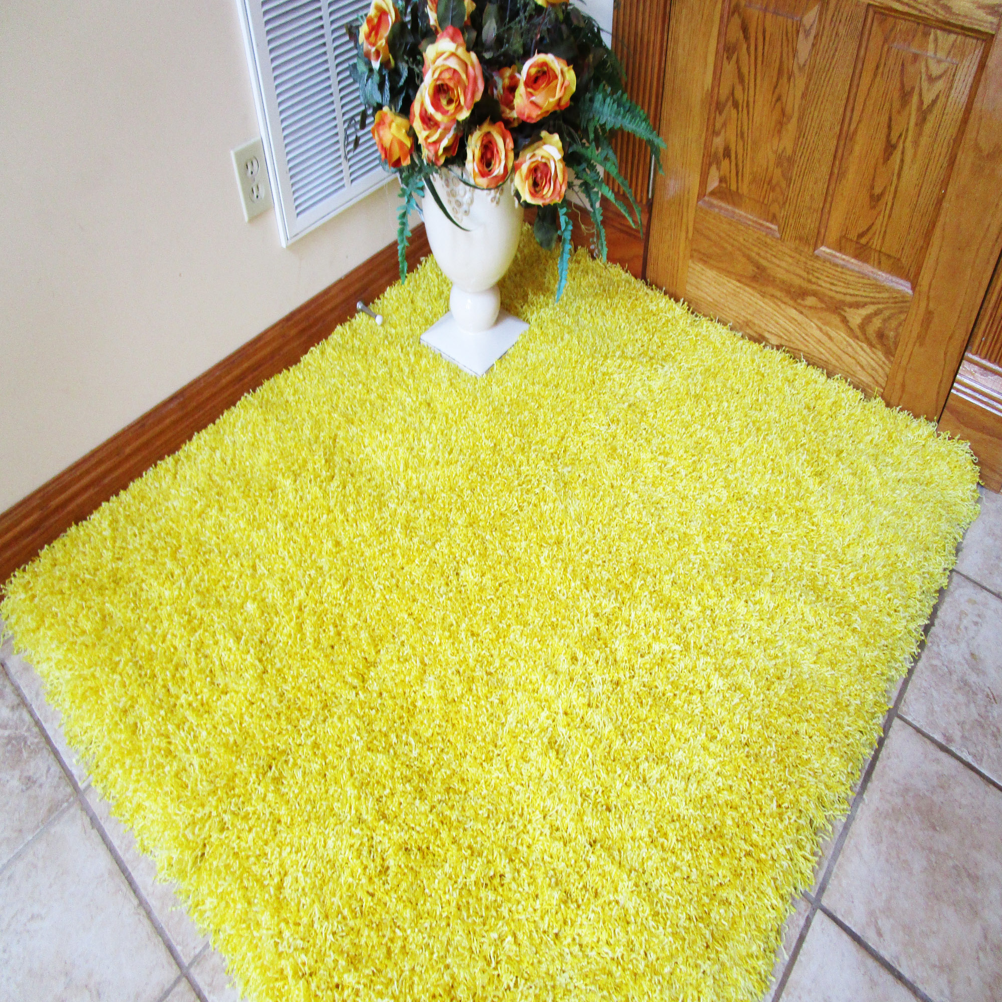 Yellow Shag Rugs