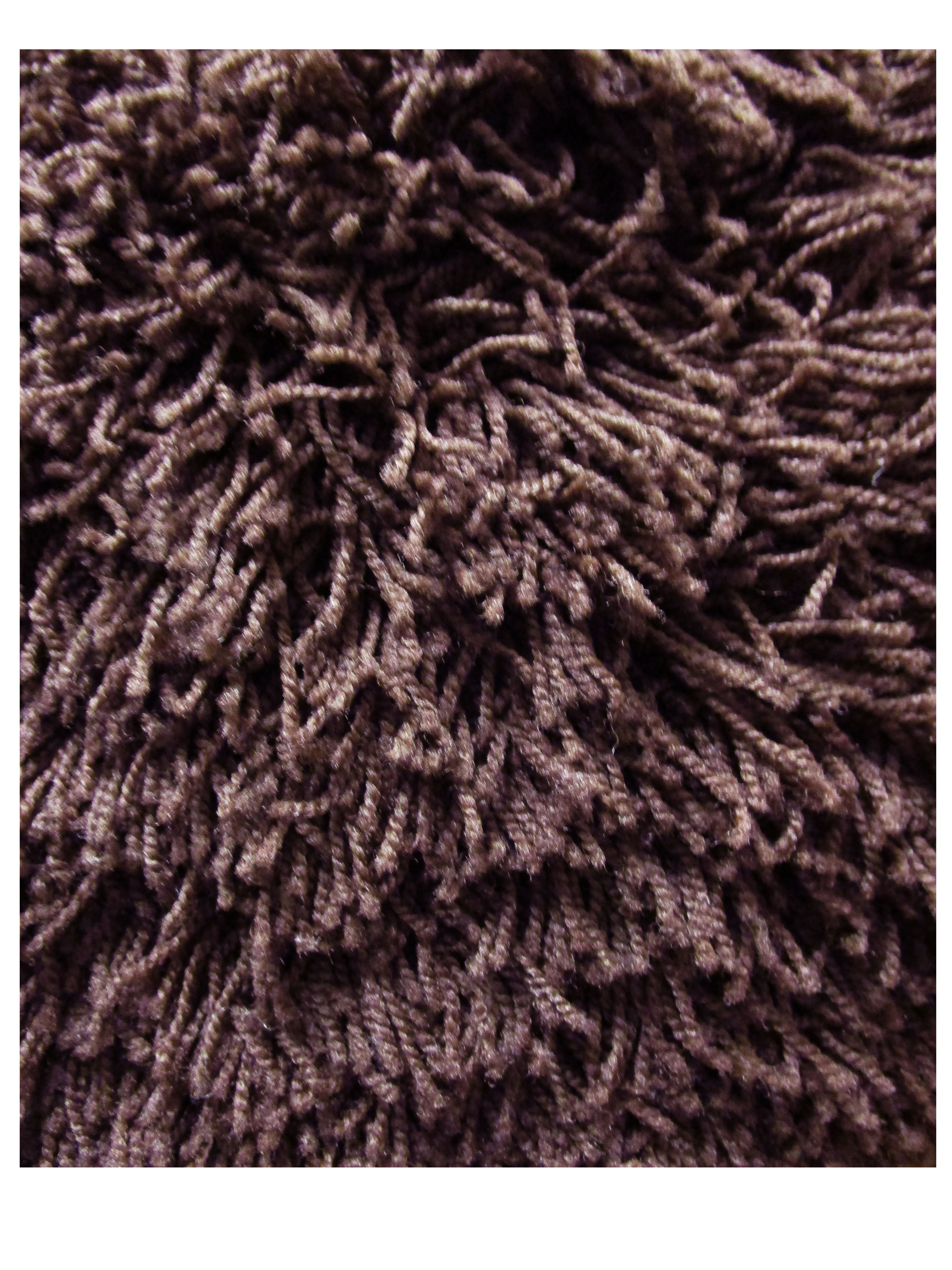 Cocoa Brown Shag Rugs