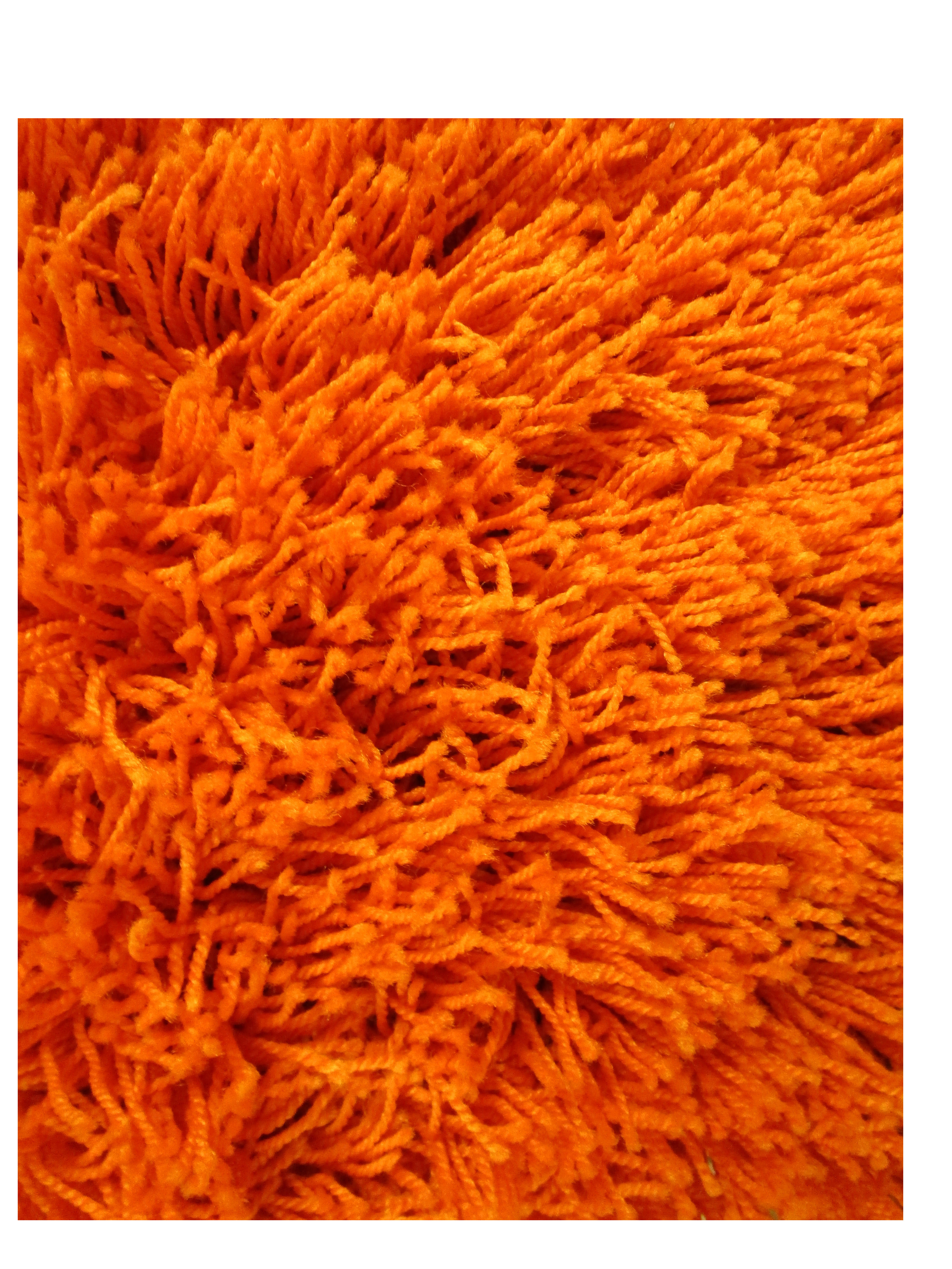 Burnt Orange Shag Rug