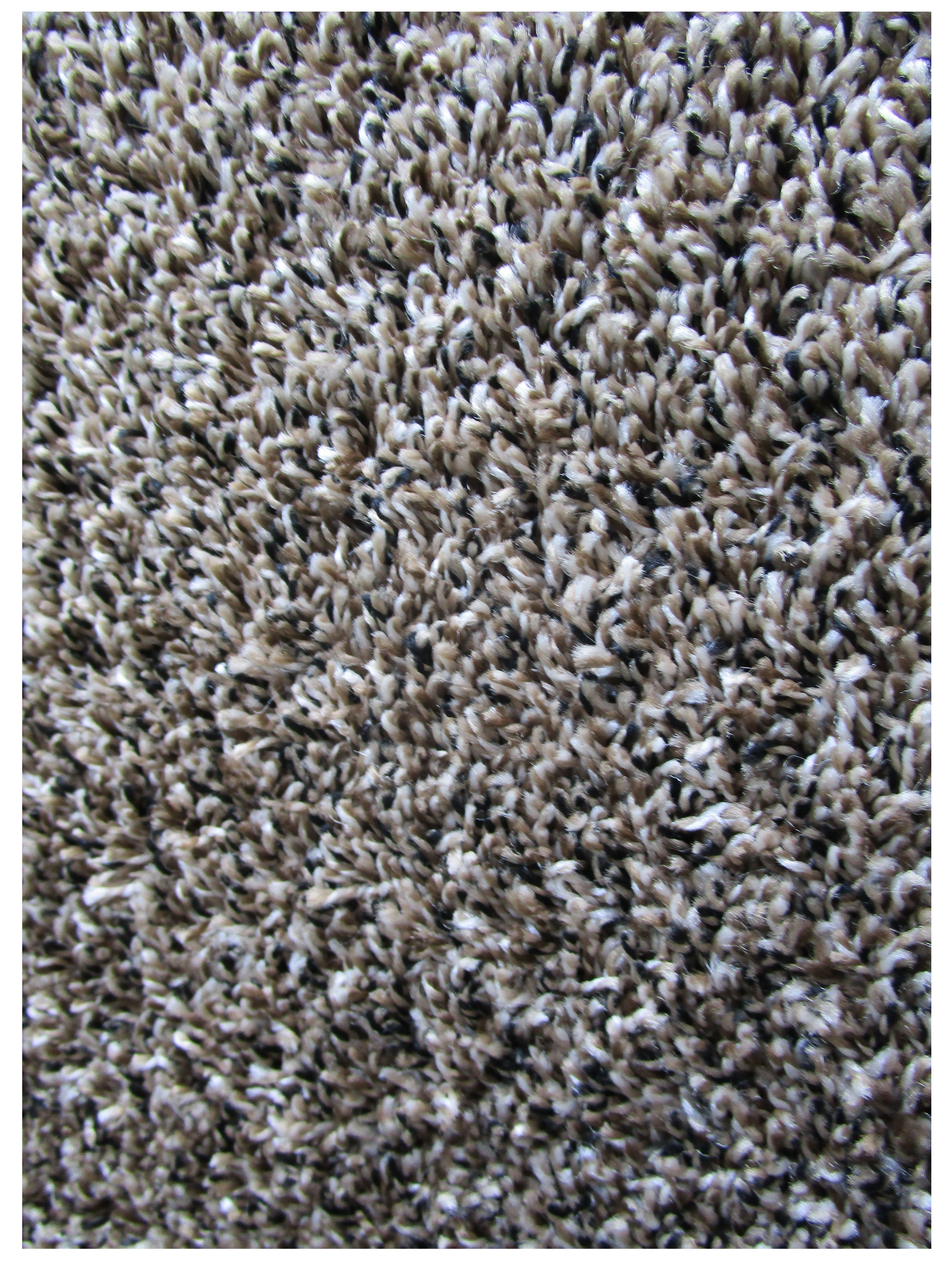 "Z-14  Cream Ecru Tweed Black 24"" X 24"" Peel and Stick Cut Pile"