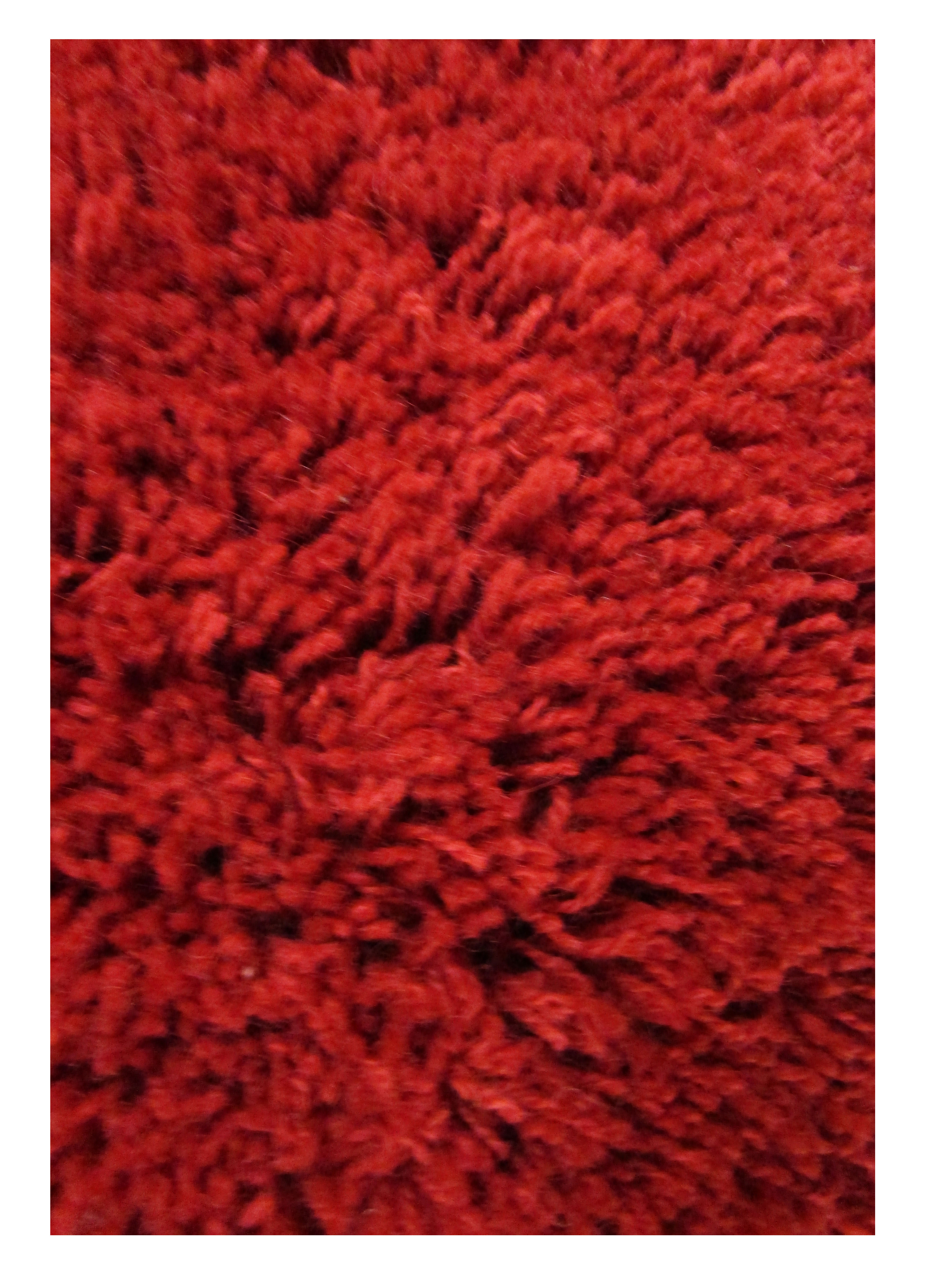 Apple Red Wool Shag Rug