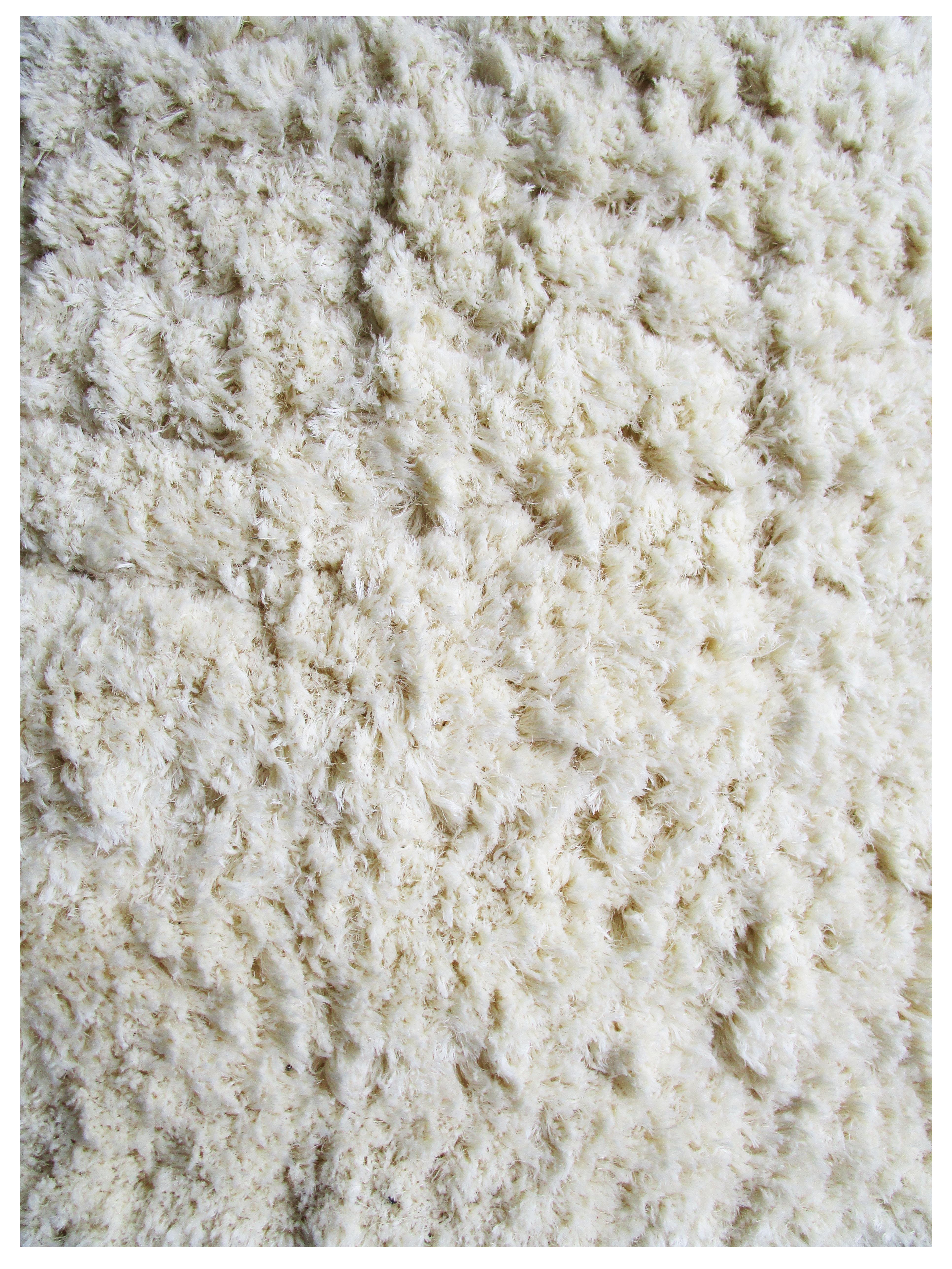 Ivory- Wool Shag Rug