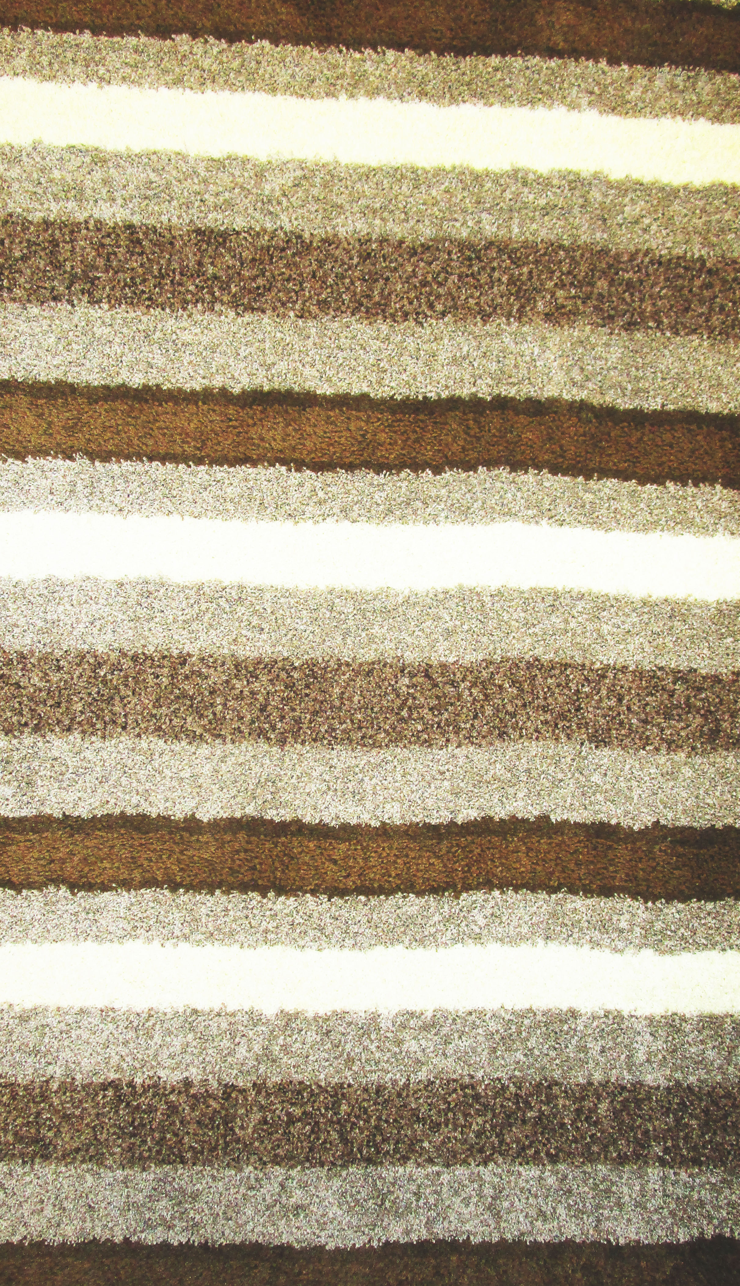 Cosmopolitian Earth Stripes Rug Heavy Cut Pile