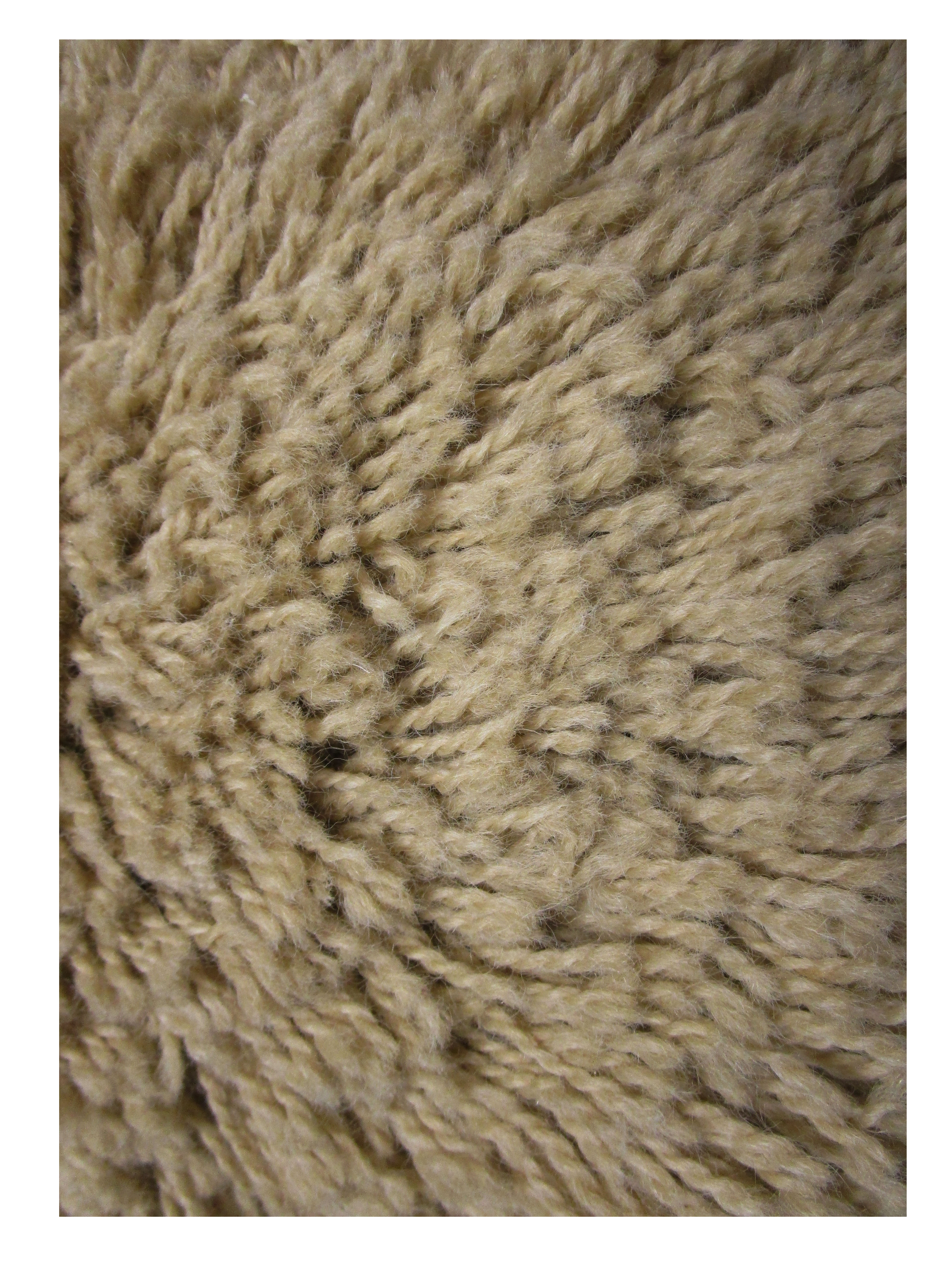 Bisque Taupe Wool Shag Rug