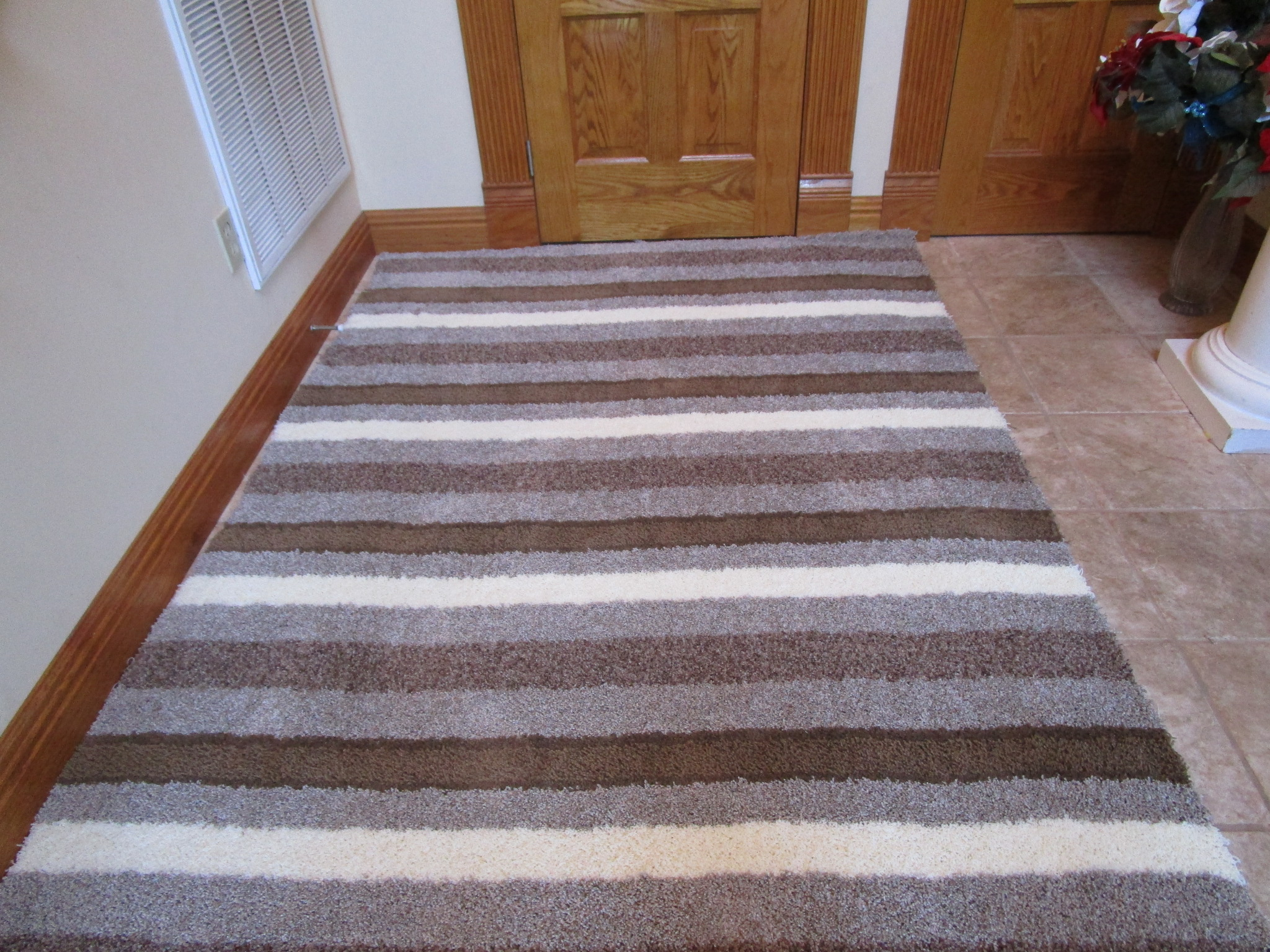 Cosmopolitian Earth Stripes Large Rugs Available