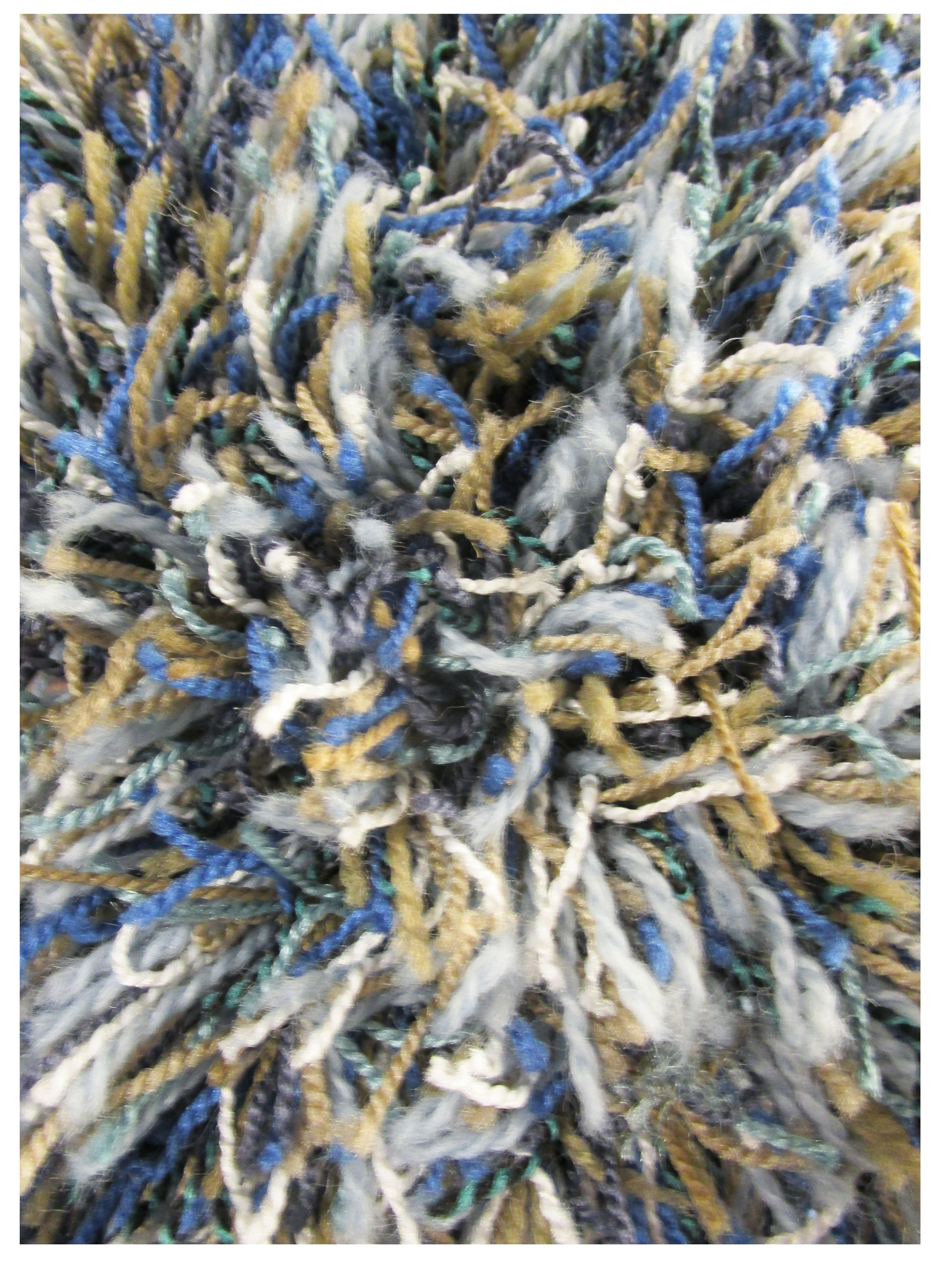 Sapphire Blue Mix Shag Rug