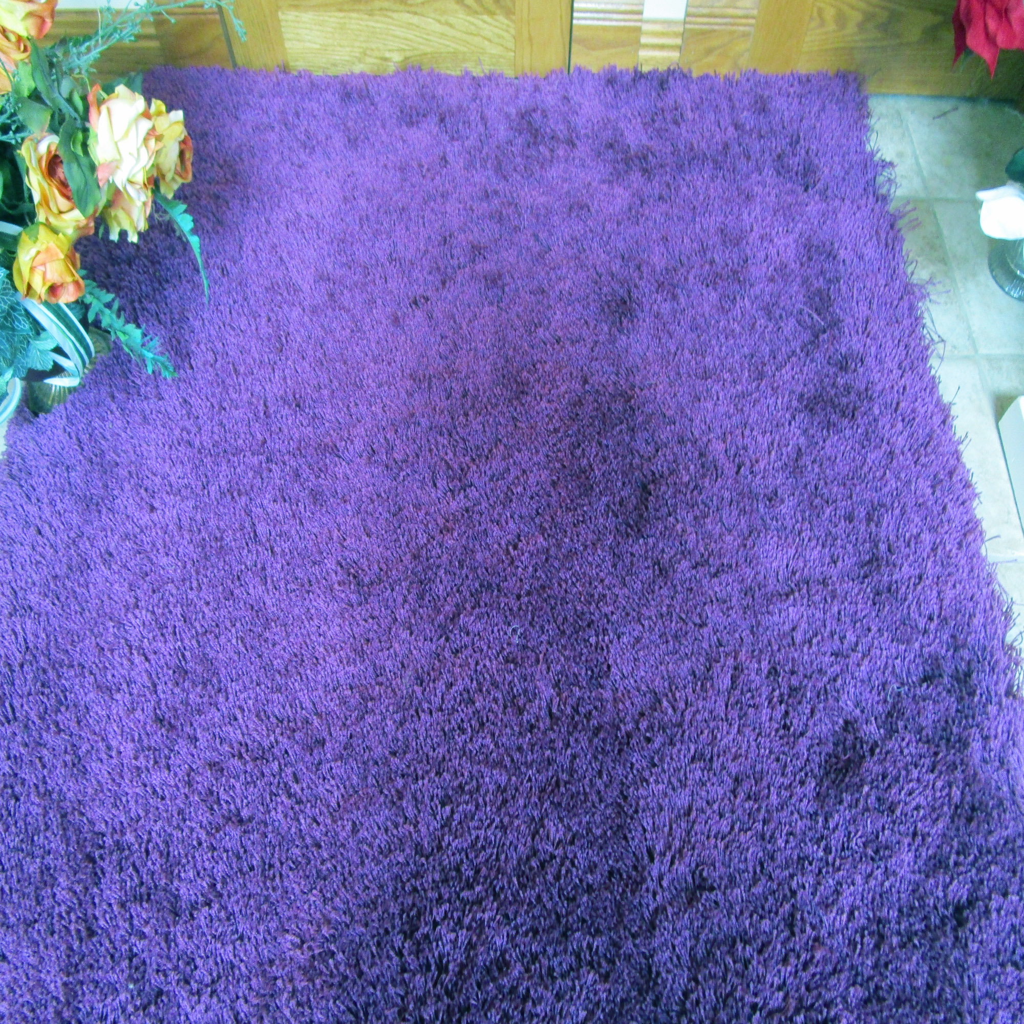 Purple Shag Rug