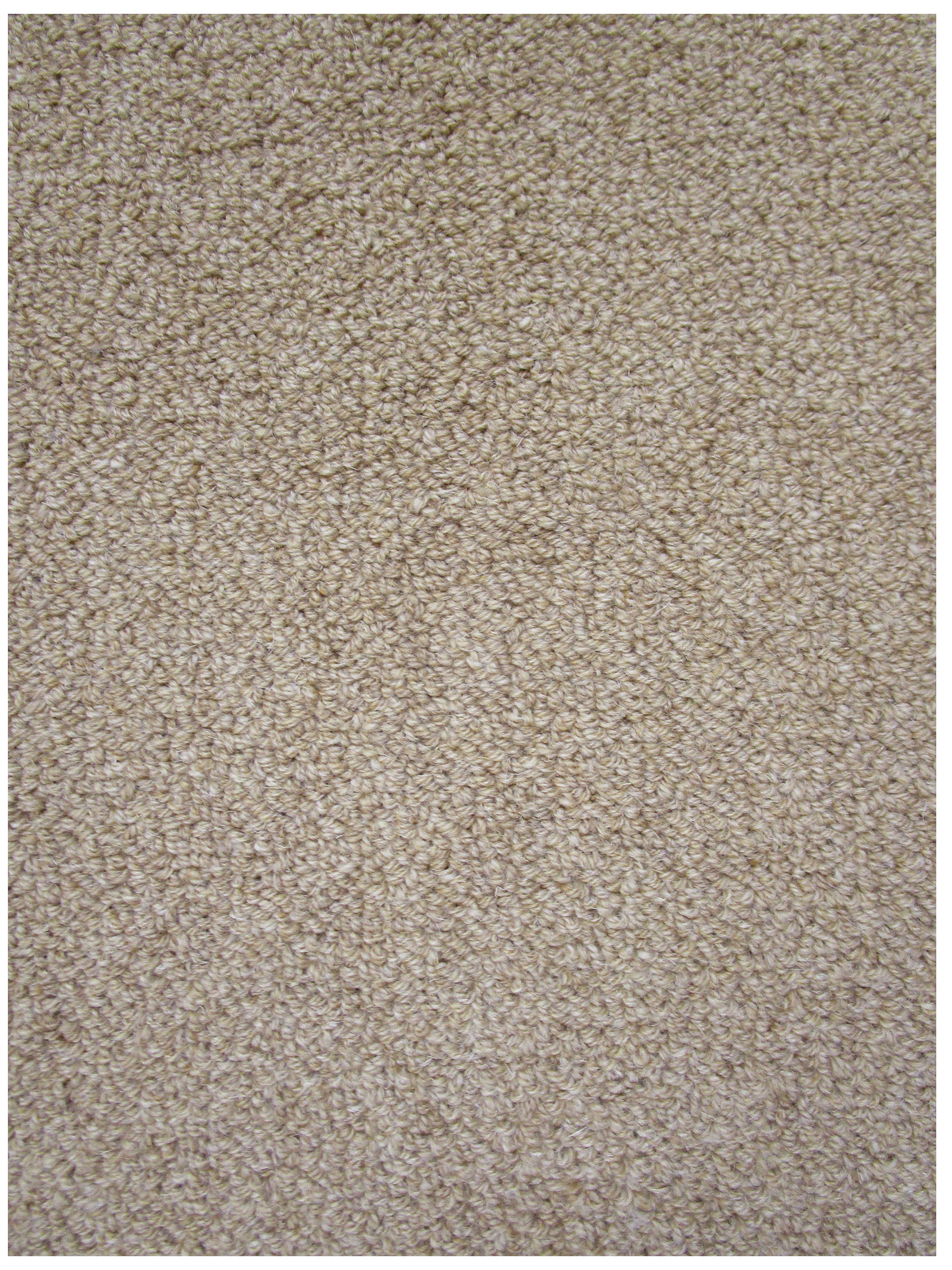 Z2 Linen Beige Eco Friendly Loop Pile Wool Rug / Carpet